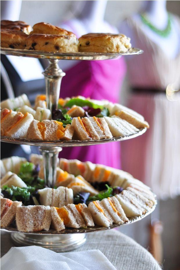 Tea Sandwiches - love the presentation!