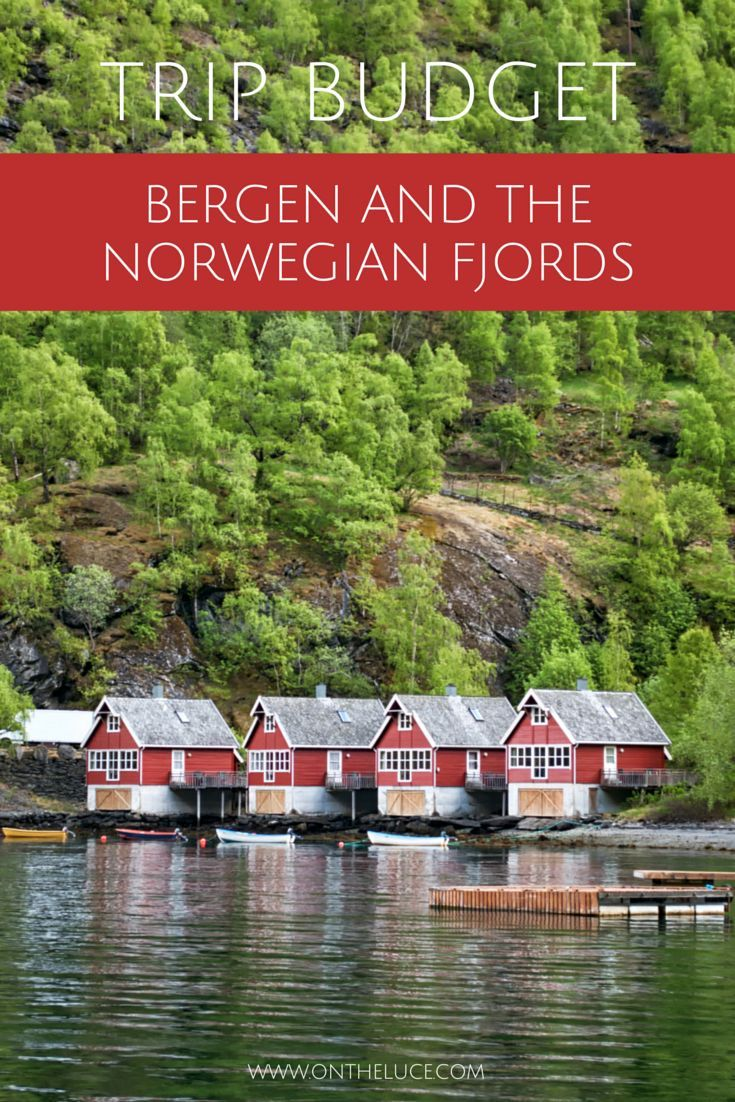Trip budget with cost breakdown for a trip to Bergen and the fjords at Flam, Norway