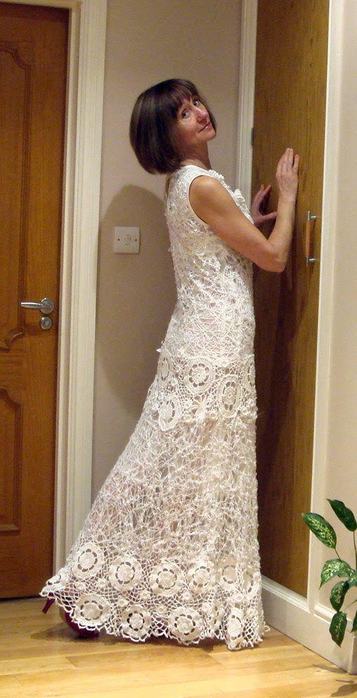 Homemade Knitted Wedding Dress