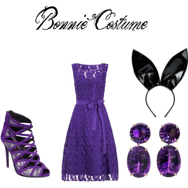 Bonnie Costume by polarbearsnow on Polyvore featuring art and fnaf