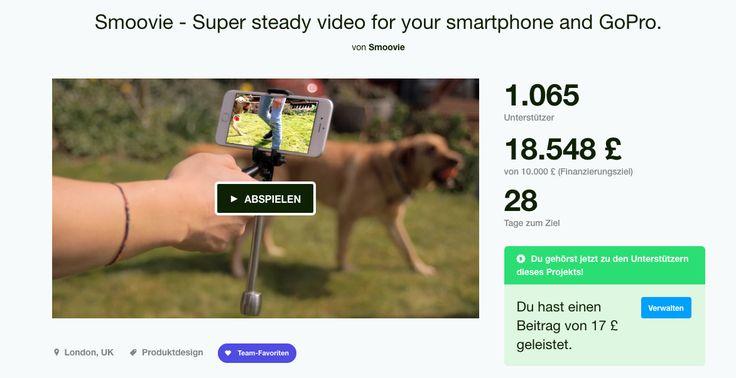 Smoovie – Smartphone Gimbal, aber billig