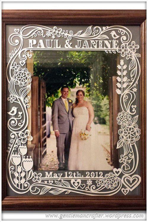 Worldwide Wednesday - Julene Harrison Paper Artist - Picture Frame