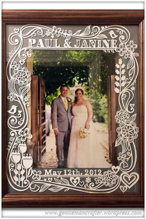Worldwide Wednesday - Julene Harrison Paper Artist - Picture Frame