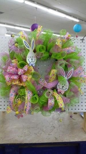 Easter wreath by kimeyly