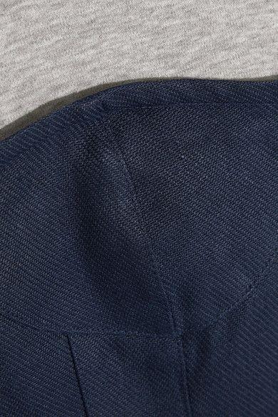 Tibi - Paneled Cotton-jersey And Linen Top - Gray - US10