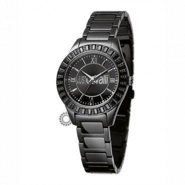 Γυναικείο ρολόι JUST CAVALLI με μαύρο καντράν & μπρασελέ και μαύρα κρύσταλλα στη στεφάνη. Εγγύηση 2 ετών της επίσημης αντιπροσωπείας. R7253180525 #Just #Cavalli #κρυσταλλα #ατσαλι #ρολοι