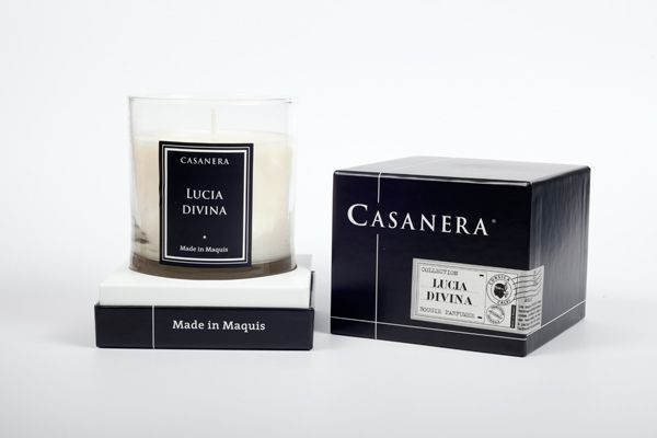 "Bougie Casanera ""Lucia Divina"" #FleurBlanche #flower #candle #corsica"
