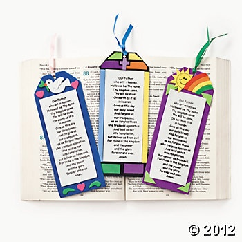 """""""The Lord's Prayer"""" Bookmark Craft Kit, Novelty Crafts, Crafts for Kids, Craft & Hobby Supplies - Oriental Trading"""