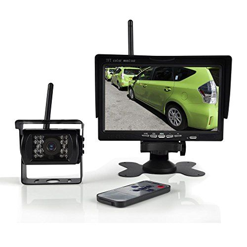 Pyle PLCMTR76WIR Wireless Backup Camera & Monitor Video System 7 Display https://wirelessbackupcamerareviews.info/pyle-plcmtr76wir-wireless-backup-camera-monitor-video-system-7-display/