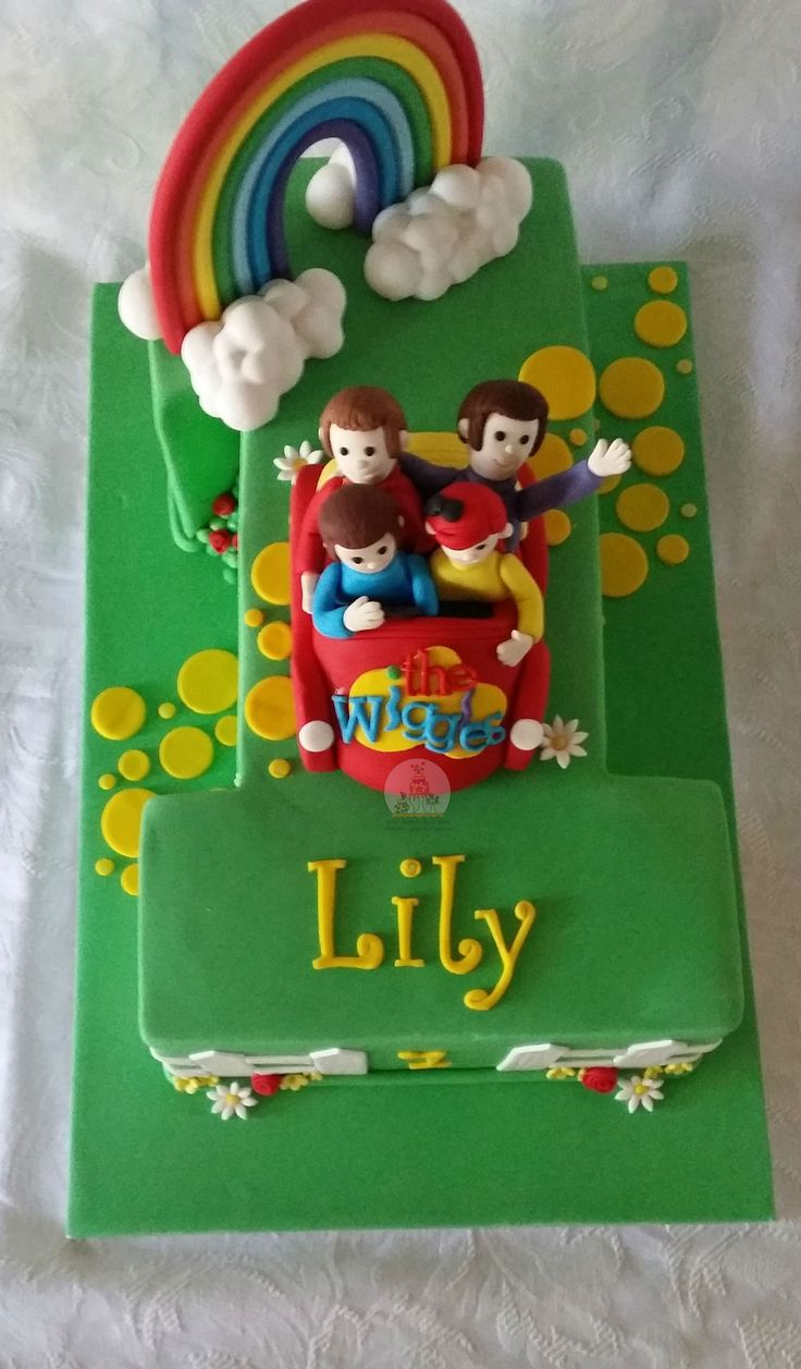Toot toot Big Red Wiggles Car with the new Wiggles for Lily's 1st Birthday