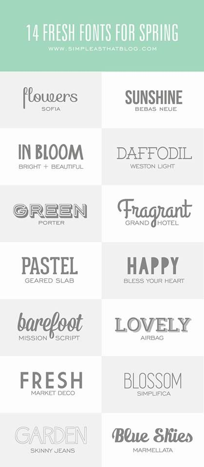 spring fonts!