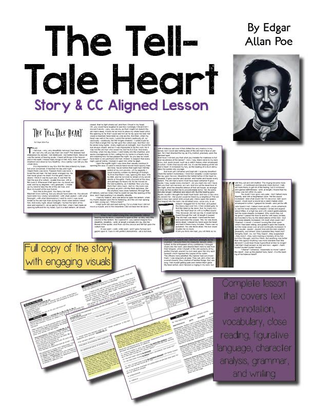compare and contrast the tell tale heart The tell-tale heart by edgar allan poe short story synopsis: professing that his disease is not madness, but nervousness and sensory acuteness, an unnamed narrator recounts what he believes to be a clever, carefully planned murder of a kind old man.