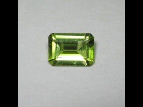 Batu Permata Natural Peridot Rectangular Cut 0.82 carat