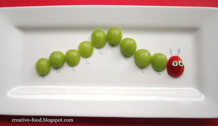 This #VeryHungryCaterpillar grape snack is so easy and fun! A perfect fit for our 45th Anniversary #sweepstakes. #penguinkids  #VeryHungryCaterpillar #PenguinKids