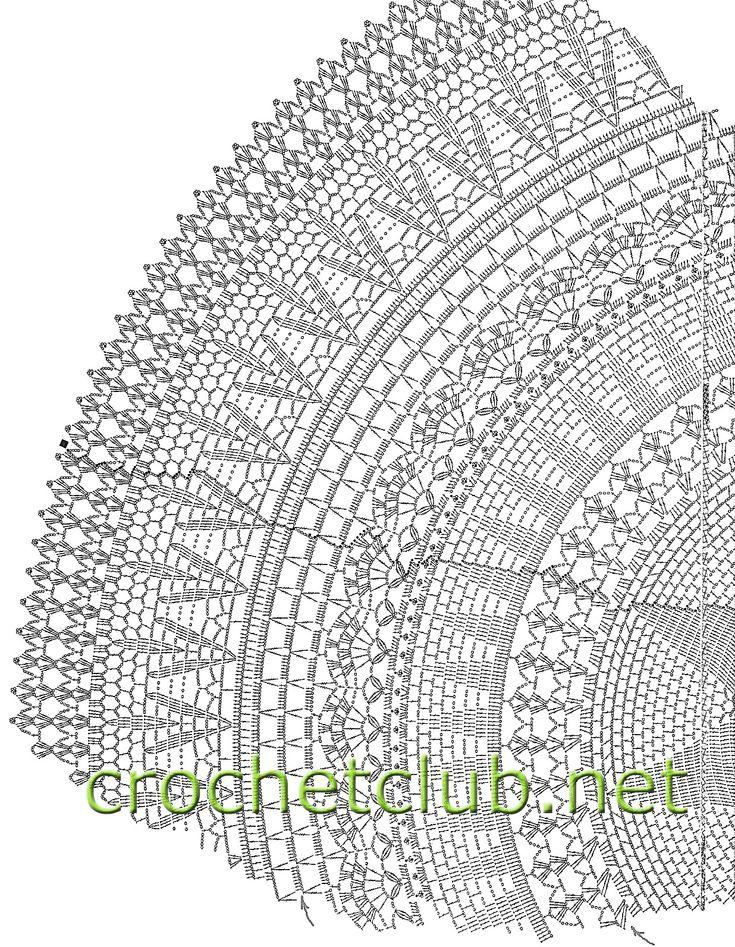 кружевной зонт крючком-продолжение схемы
