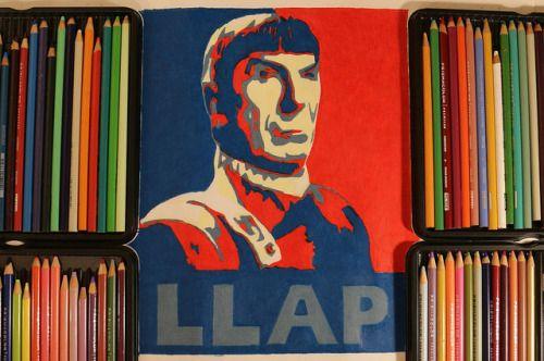 Spock Drawing | Leonard Limoy Tribute Art | KITSLAM | by Kitslam on Flickr. https://www.youtube.com/watch?v=MgLL5yF8i7A #leonardnimoy #tributeart #spock #startrek #llap