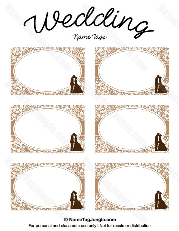 Free printable wedding name tags the template can also be for Wedding label templates