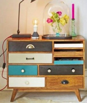 Multi-Colored Drawer Dresser