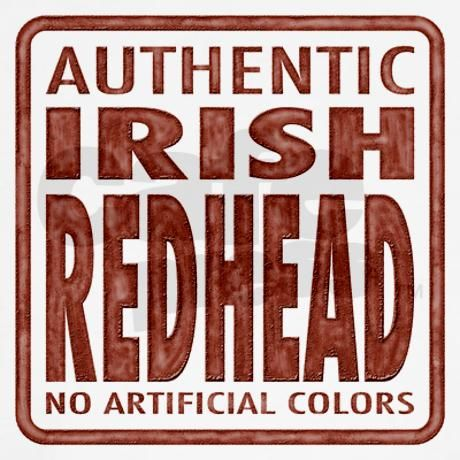 Irish Redhead Kids T-Shirt on CafePress.com