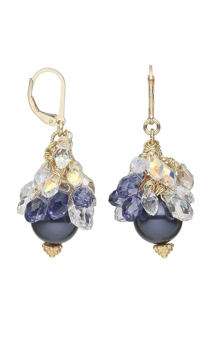 jewelry design earrings with swarovski crystal beads and pearls fire mountain gems and beads - Jewelry Design Ideas
