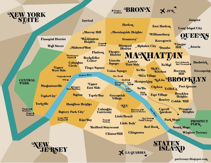 Paris vs New York, a tally of two cities: the map (NY in Paris)!
