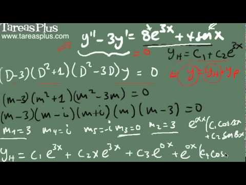 Coeficientes indeterminados – método del anulador parte 3