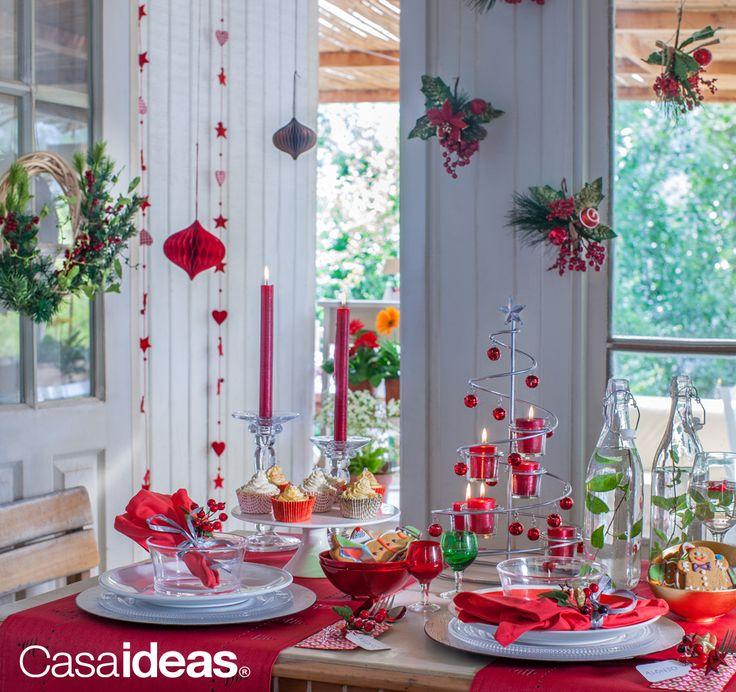 Dale sentido a tu Navidad con #Casaideas #Decoración #Mesa #Hogar #Familia
