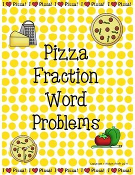 Students will love this pizza themed fraction word problem activity sheet! The sheet includes 5 word problems with polygons that students are required to partition into equal parts and shade according to the word problem. Enjoy :) Thank you, Kelly's Kraft