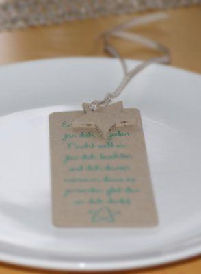 Mädelsabend - Tischdeko Schöner Spruch au Kraftpapier mit Kraftpapierstern - für jede Freundin eines