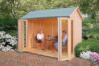 Shire Blenheim Shiplap Wooden Summerhouse with Bi-Fold Doors £1065 b&q 3/2/18