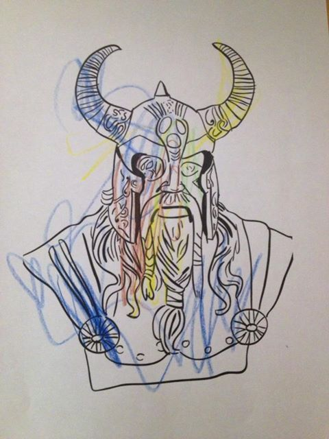 Viking coloured by a pupil