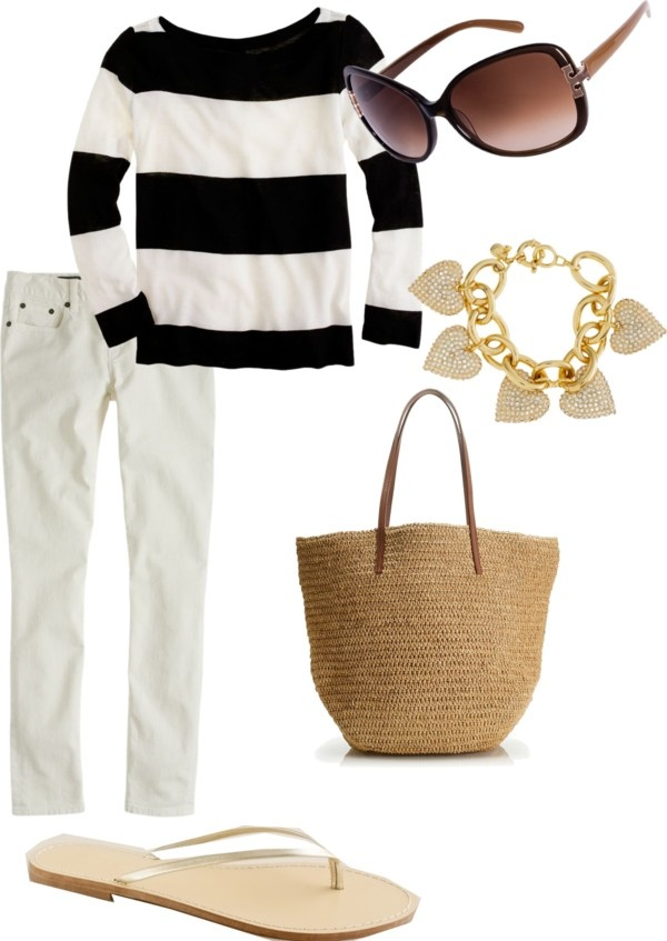 """""""simple summer style"""" by caseylovesjcrew ❤ liked on Polyvore"""