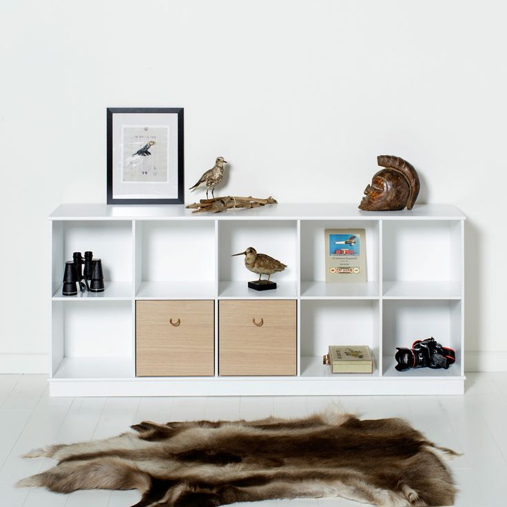 Wood Collection - shelving units by Oliver Furniture.