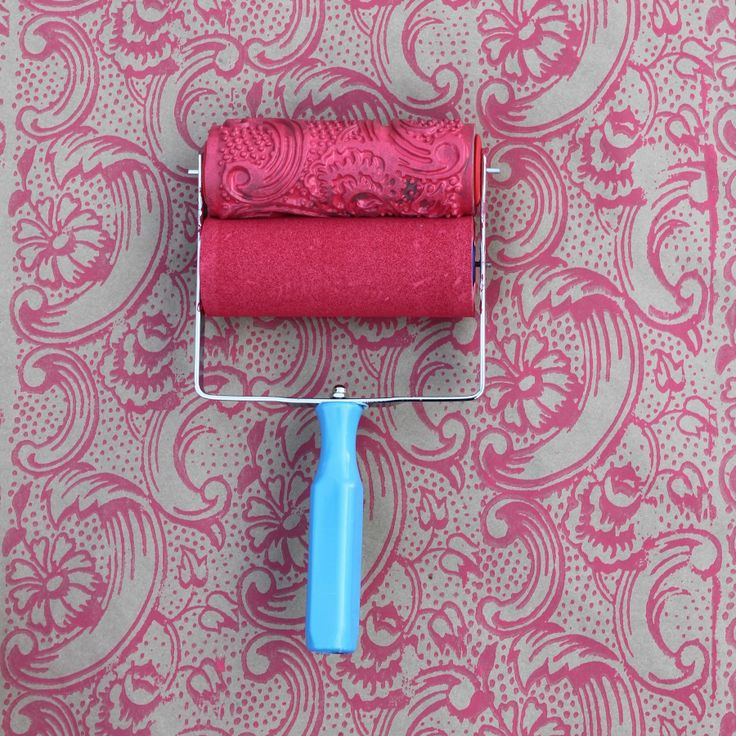Patterned Paint Roller in Night Dahlia by NotWallpaper