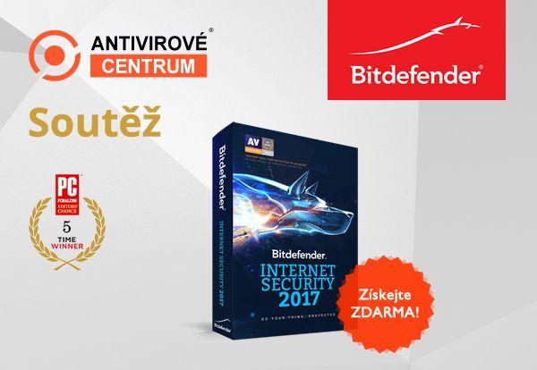 Velká šance získat zdarma Bitdefender Internet Security: https://www.antivirovecentrum.cz/aktuality/bitdefender-internet-security-2017-zdarma.aspx