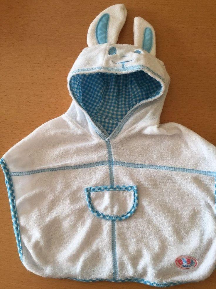 Baby Born Zapf Creation Badehandtuch Cape weiß /blau in Spielzeug, Puppen & Zubehör, Babypuppen & Zubehör | eBay!