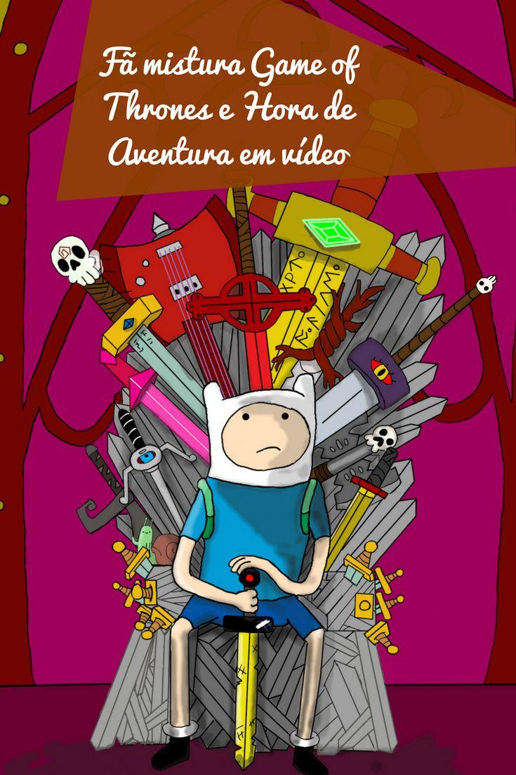 Imagina se Game of Thrones fosse um desenho animado no estilo de Adventure Time? A abertura do crossover traz Jon Snow como Finn e Ghost (Fantasma) como Jake, além de diversos outros personagens do seriado.