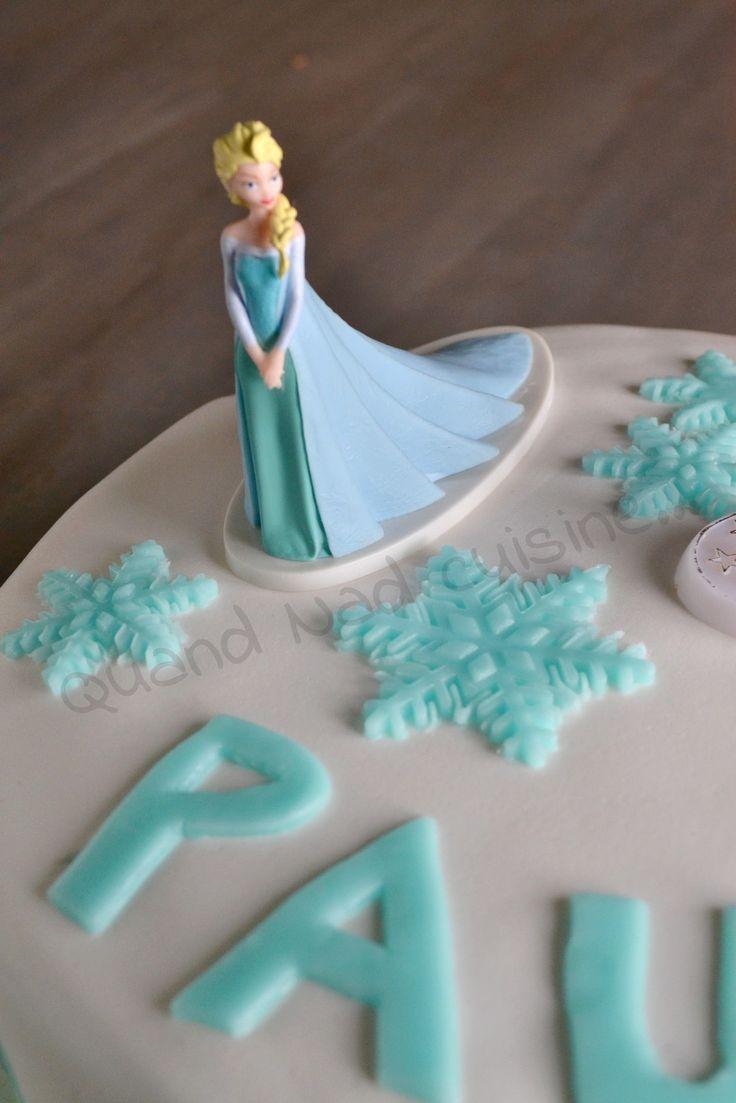 17 meilleures images propos de g teau thermomix de fetes sur pinterest g teau pinata - Gateau reine des neiges tuto ...