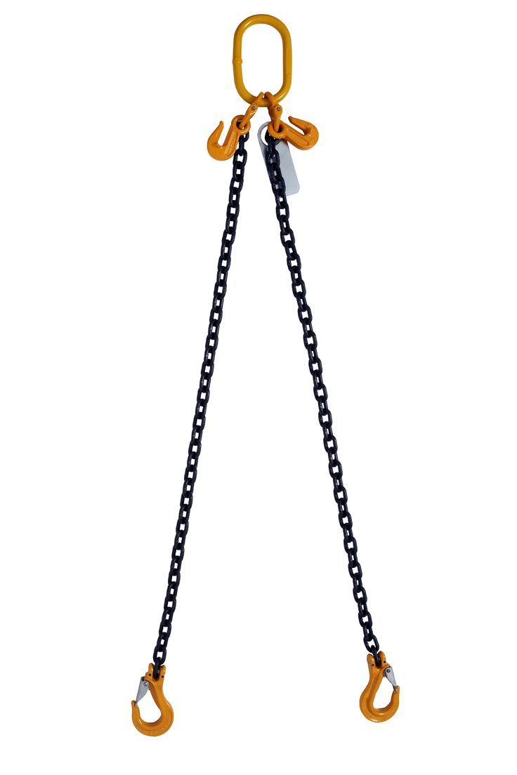 Two Leg adjustable sling with pinlok safety latch hook