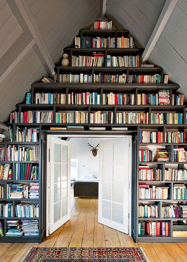Une+bibliothèque+sous+les+toits