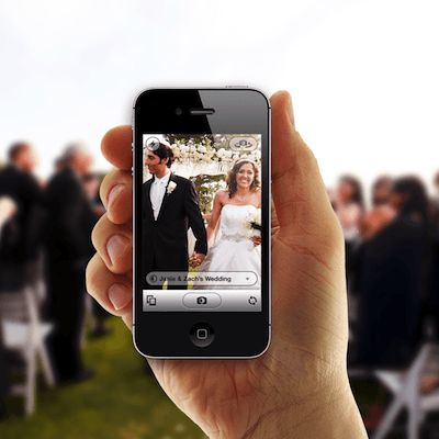 Wedding photo app to collect every photo taken at your wedding