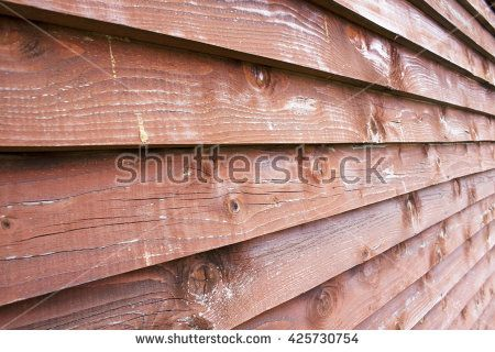 Fence planks painted red