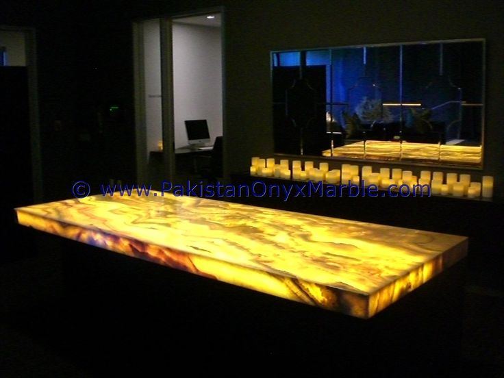 Backlit Onyx Table Backlighting Onyx Tabletops Backlit