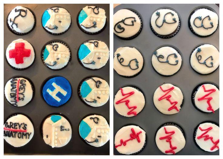Grey's anatomy birthday cupcakes. Medical theme cupcakes ...
