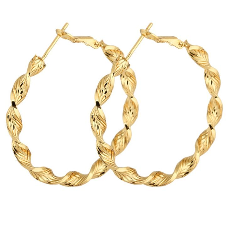 >> Click to Buy << Circle Polished Shiny Gold Color Twisted Extra Large Back Hoop Gold Filled  Earrings #Affiliate