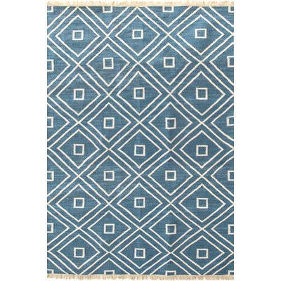 Dash and Albert Rugs Mali Hand-Woven Blue Indoor/Outdoor Area Rug Rug Size: 10' x 14'