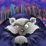 Bad wolf- digital illustration Stock Images