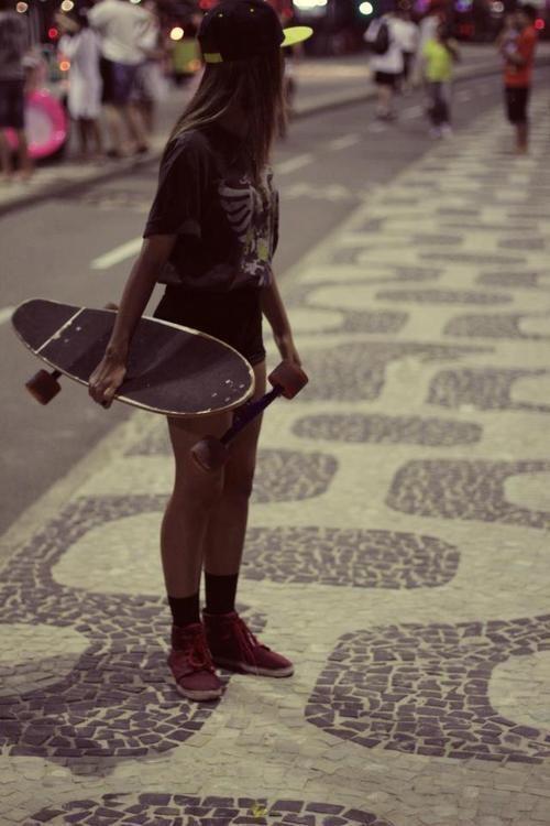 skater girl, tomboy at heart