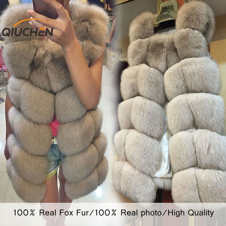 QC8046 BIG SALE FREE SHIPPING all real photos 14 color in stock hot new  natural fox fur long vest  real fox fur gilet winter