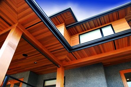 Natural Beauty Tongue And Groove Cedar Soffits House
